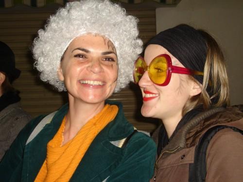 עם אחותי הצרפתייה בקרנבל סיטג'ס, ספרד, 2007