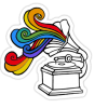 Gramophone Rainbow Stickers copy