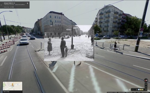 Berlin Wall in Google Street View